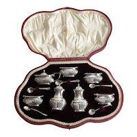 Cased Sterling Silver Condiment Set Horace Woodward & Co Ltd Sheffield 1907