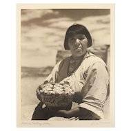 Muench, Josef 1904-1998 B/W Gelatin Silver Photograph, 'Acoma Pottery Seller'