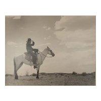 Muench, Josef (1904-1998) B/W Gelatin Silver Photograph, Untitled Man on Horse