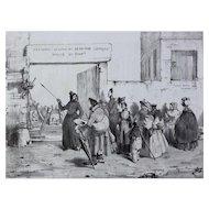 Benjamin Roubaud (French 1811-1847) Lithograph Petit Troue S'il Vous Plain