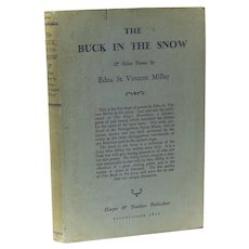 Edna St. Vincent Millay 'The Buck in the Snow' 1st Ed