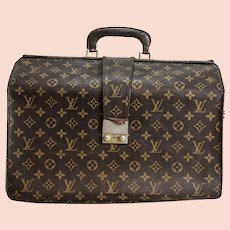 90e46749f1ef Vintage 1970s Louis Vuitton LV Monogram Briefcase 1970 s Coated Canvas Push  Lock