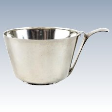 Swedish W.A. Bolin .830 Silver Cup or Porringer, 1943. Weight 5.5ozt