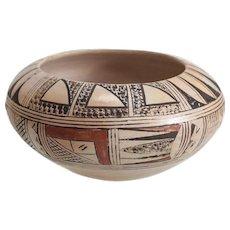 Polychrome Hopi Pottery Jar, Signed M. Sakeva, Finely Painted Designs, Burnished