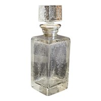 Stunning Continental Crystal and Sterling Silver Collar Decanter Intaglio