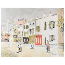 Maurice Utrillo (French 1883-1955) Lithograph Paris les Gobelins signed