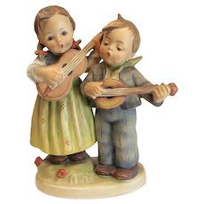 "Hummel Figurine 6.5"" Happy Days Boy Girl Guitar Singing TMK 1, #150"