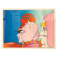 Peter Max (American 1937-) Lithograph Talking to Karen 1980, Ltd Ed Signed