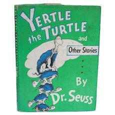 Dr. Seuss 'Yertle the Turtle' Random House 1st Ed Signed w DJ 1958