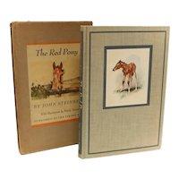 John Steinbeck The Red Pony. Viking, New York 1945 1st Illus Printing Slipcase