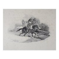 Theodore Gericault (French 1791-1824) Cuirassiers Chargeant Lithograph on Wove