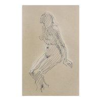 Jacques Villon, (French 1875-1963) Etching on wove paper, Nude Study