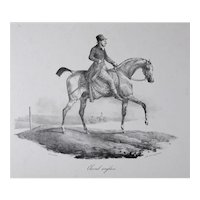 Theodore Gericault (French 1791-1824) Cheval Anglais, Lithograph