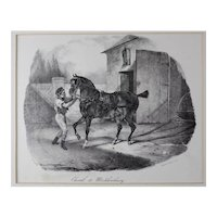 Theodore Gericault (French 1791-1824) Cheval de Mecklembourg Lithograph