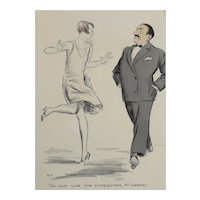 Georges Goursat (French 1863 - 1934) SEM Lithograph / Illustration, Charlston