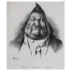 Honore Daumier France 1808-1879 Lithograph Le Passe Le Present L'Avenir 1834
