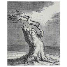 Honore Daumier France 1808-1879 Lithograph Pauvre France