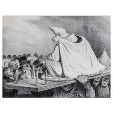 Honore Daumier France 1808-1879 Lithograph La tete branlante No 204 plate 427