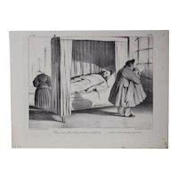 Honore Daumier France 1808 -1879 Lithograph No 186 plate 39 La Caricature