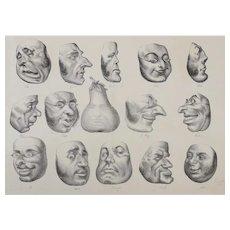 Honore Daumier France 1808-1879 Masques de 1831 La Caricature Plate No 143