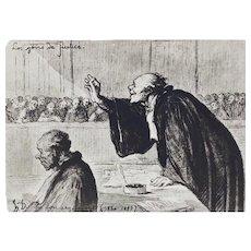 Honore Daumier France 1808-1879 Lithograph La Bon Argument Ltd Ed 500