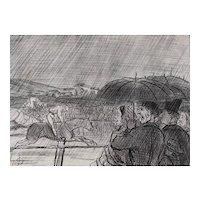 Honore Daumier France 1808-1879 Lithograph Courses Nautiques de 1856 No 309