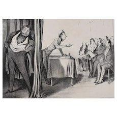 Honore Daumier France 1808 -1879 Lithograph Messieurs les actionnaires