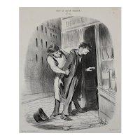 Honore Daumier France 1808-1879 J'veux a boire Le Charivari 1849