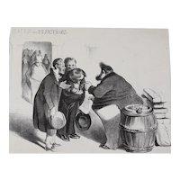 Honore Daumier France 1808 -1879 Lithograph Recompense honnete aux electeurs