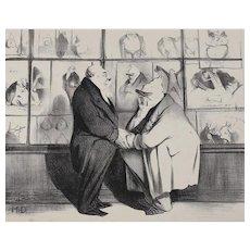 Honore Daumier France 1808 -1879 Lithograph Ou Allons Nous No 425