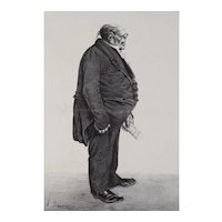 Honore Daumier France 1808 -1879 Lithograph Mr Benjamin Dudessert No 287