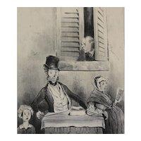 Honore Daumier France 1808-1879 Lithograph Adieu! Adieu! Le Charivari 1841