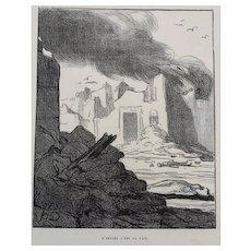 Honore Daumier France 1808-1879 L'empire c'est la paix Le Charivari 1870