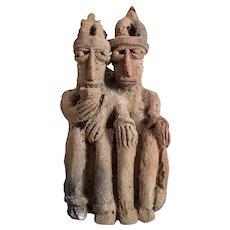 Pre Columbian Colima Conjoined Guardian figures