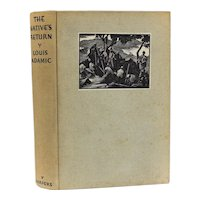 Louis Adamic 'The Native's Return' Harper & Brothers, 1934 1st Ed signed letters