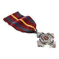 Sterling Silver Enamel Salvation Army Long Service Medal Bent & Parker 1947