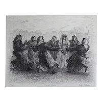 Tully Filmus (American 1903-1998) Lithograph Bridal Dance Signed Ltd Ed
