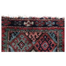 Antique Kurdish Rug, wool mat
