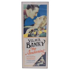 Theatrical Movie Poster The Awakening Vilma Banky 1928