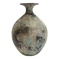 Chinese Bronze Hu bottle archaic vase, Yuhuchunping form