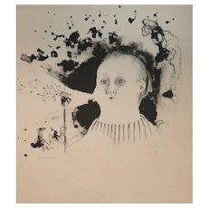 Morris Broderson (American 1928-2011) Lithograph on paper, signed in pencil 1972