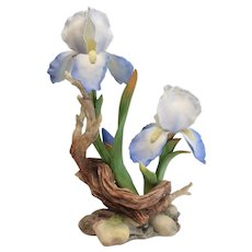 Boehm Bone Porcelain Sculpture, Ltd Edition No. 241, Van Gogh's Blue Iris
