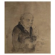 Honore Daumier France 1808-1879 Pen and Ink drawing on paper