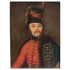 Baron Antoine-Jean Gros French 1771-1835 Oil Painting Portrait of Light Cavalry