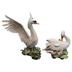 Boehm Porcelain Sculptures Mute Swans PAIR Cygnus Olor Ltd Ed 400-14