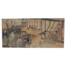 Utagawa Kunisada Woodblock Print Ukiyo-e, Azuma Genji Wakana no maki, c1854