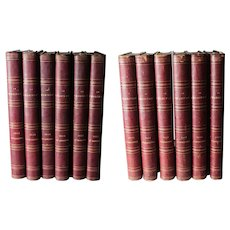 RARE 12 Volume Set Le Charivari daily issues 1853-1858 Daumier Lithographs