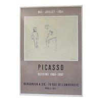 Pablo Picasso Lithograph Poster Dessins 1903-1907 Berggruen & Cie Paris VII 1954