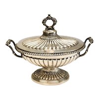 Charles-Auguste Peret French Sterling Silver Footed Sauce Dish c1860