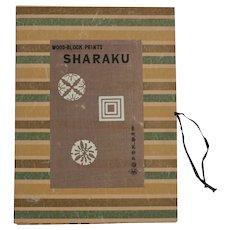 Japanese Woodblock Prints Toshusai Sharaku in folio, six actor portraits